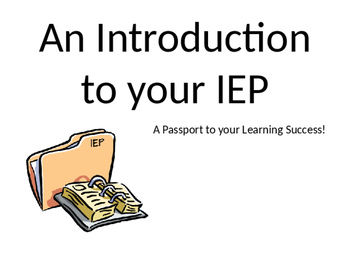 An Introduction to Your IEP