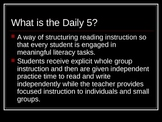 An Introduction to the Daily 5 Powerpoint