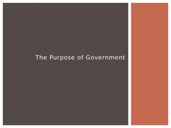 An Introduction to the Purpose of Government Prompts