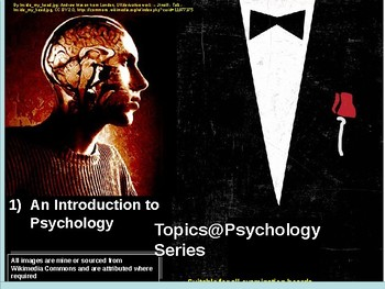 An Introductory Lesson/s for Psychology. 'Topics@Psychology Series' #1