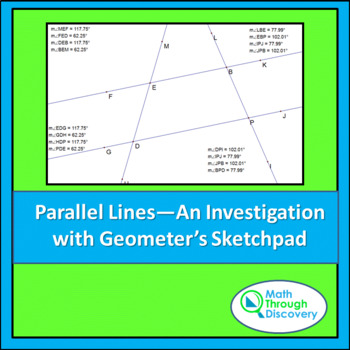 Geometry:  Parallel Lines - An Investigation - GSP