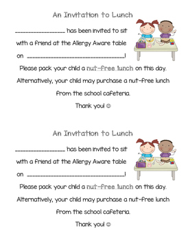 An Invitation to Lunch at the Allergy Aware Table
