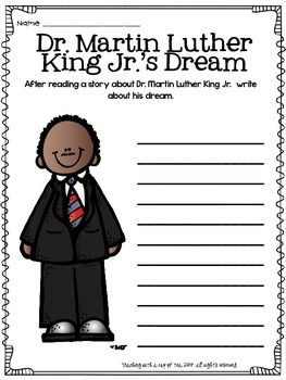 An MLK Activity (Dr. Martin Luther King Jr.)