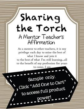 A Mentor Teacher's Affirmation (Professional Development)