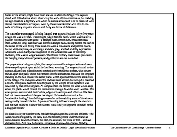 """An Occurrence at Owl Creek Bridge"" by Ambrose Bierce: Annotation Organizer"