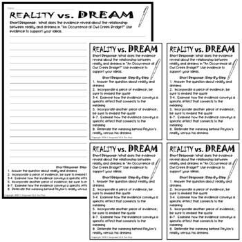An Occurrence at Owl Creek Bridge Dreams Graphic Organizer w/ Short Response
