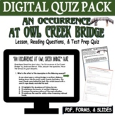 An Occurrence at Owl Creek Bridge Quiz Distance Learning S