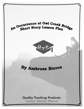 An Occurrence at Owl Creek Bridge by Ambrose Bierce Lesson Plan Worksheets