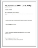 An Occurrence at Owl Creek Bridge study guide questions and text