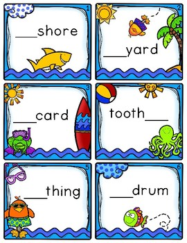 Compound Words Game, Worksheets, Craftivity, and More
