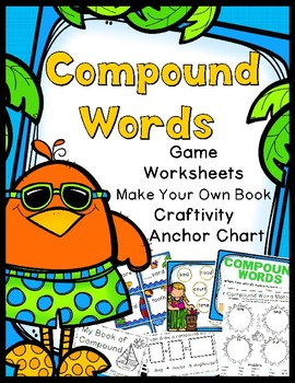 Compound Words: Game/Book Craft/Book Printable/Activity Sh