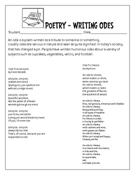 An Ode To Something Green- St. Patrick's Day Poetry Assignment