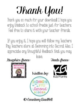 An Ode to Back to School (freebie)