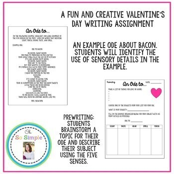 An Ode to... Valentine's Day Creative Writing