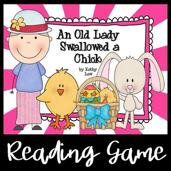 An Old Lady Swallowed a Chick - A Reading Comprehension Game