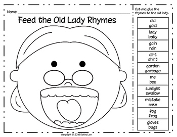 An Old Lady Swallowed a Frog - A Reading Comprehension Game