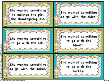 Old Lady Thanksgiving: Cause/Effect, Sequencing, Fact/Fiction, Rhyming Fluency