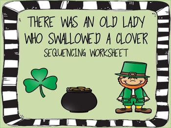 An Old Lady Who Swallowed A Clover Worksheet