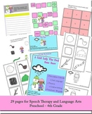 A Cold Lady Who Swallowed Snow - Speech Therapy and Language Arts