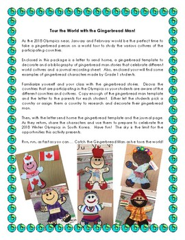 An Olympic Tour of the World with the Gingerbread Man
