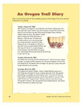 An Oregon Trail Diary