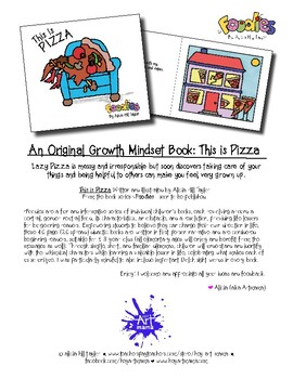 An original growth mindset book about laziness and responsibility: This is Pizza