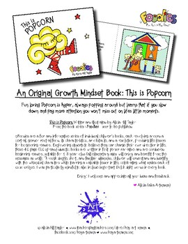 Growth mindset book about learning to focus and slow down: This is Popcorn