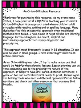 An Orton-Gillingham Helper for teacher -ar at the end of a word