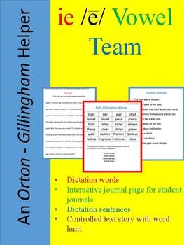An Orton-Gillingham Teacher Helper for the vowel team ie (long e sound)