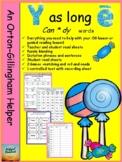 An Orton-Gillingham helper for teaching Y as an open vowel