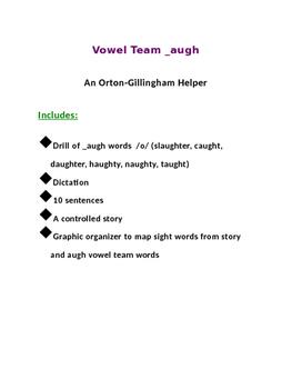 An Orton-Gillingham helper for vowel team _augh