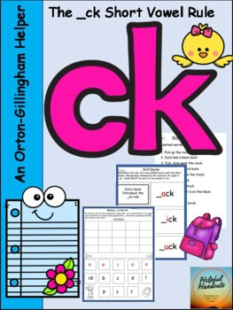 An Orton-Gillingham resource for the _ck short vowel rule