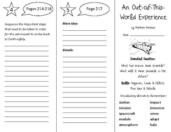 An Out of This World Experience Trifold - Open Court 4th Grade Unit 2 Lesson 6