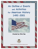 An Outline of Events and Activities for American History 1
