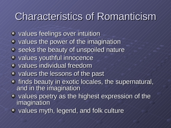 An Overview of American Romantics