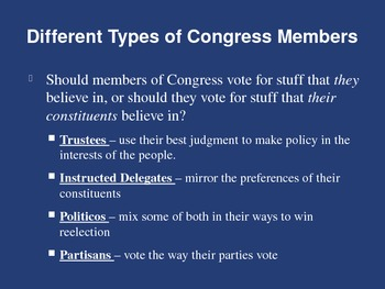 An Overview of Congress Power Point