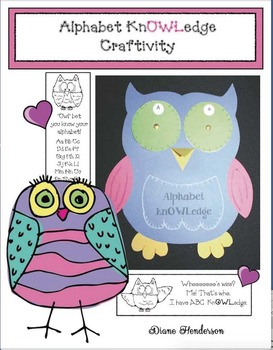 "An ""Owl-phabet"" (Alphabet) Letter Wheel Craftivity"