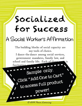 A School Social Worker's Affirmation (Professional Development)