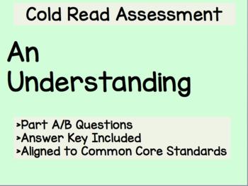 An Understanding Cold Read