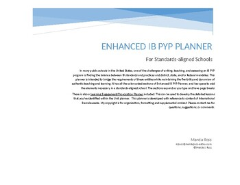 An Updated IB PYP Planner V3 for Standards-aligned Schools