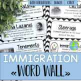 Immigration and Urbanization Word Wall