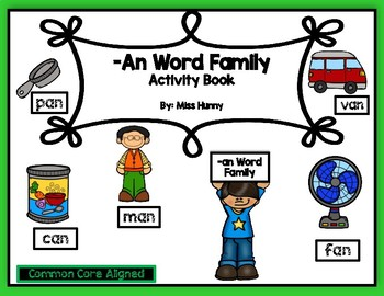An Word Family Activity Book