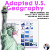 An adapted U.S.Geography book I Love the USA Special Education Speech Therapy