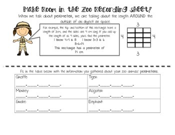 An area and perimeter activity! Make Room at the Zoo! CCSS aligned