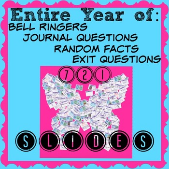 An entire year of bell ringers, exit slips, random facts, & journal Q's