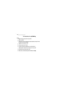 An iPad Lab Safety Activity
