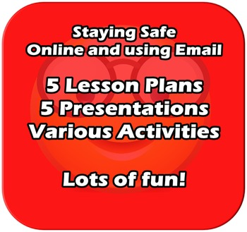 An introduction to Email and Staying Safe Online - 5 Lessons - EDITABLE
