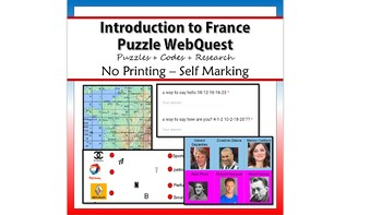 An introduction to France WebQuest – Puzzles and Research