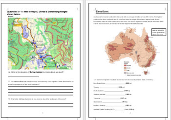 An introduction to Topographic Maps - (*suitable for Australian Curriculum)