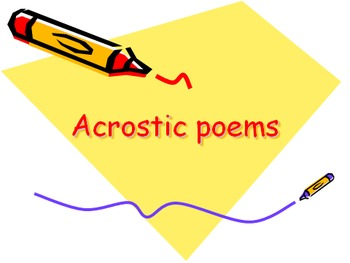 An introduction to acrostic poetry